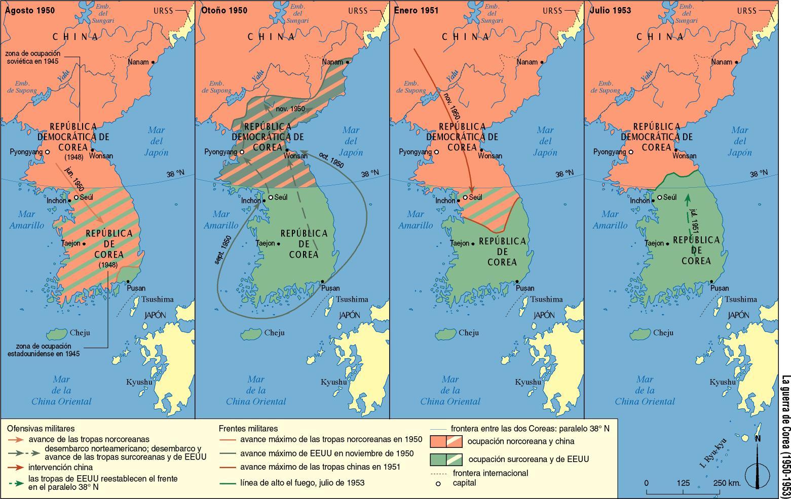 Mapa Guerra De Corea.Analisis De La Guerra De Corea Han A Madrid