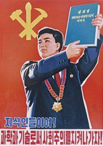 Arte propagandístico norcoreano.