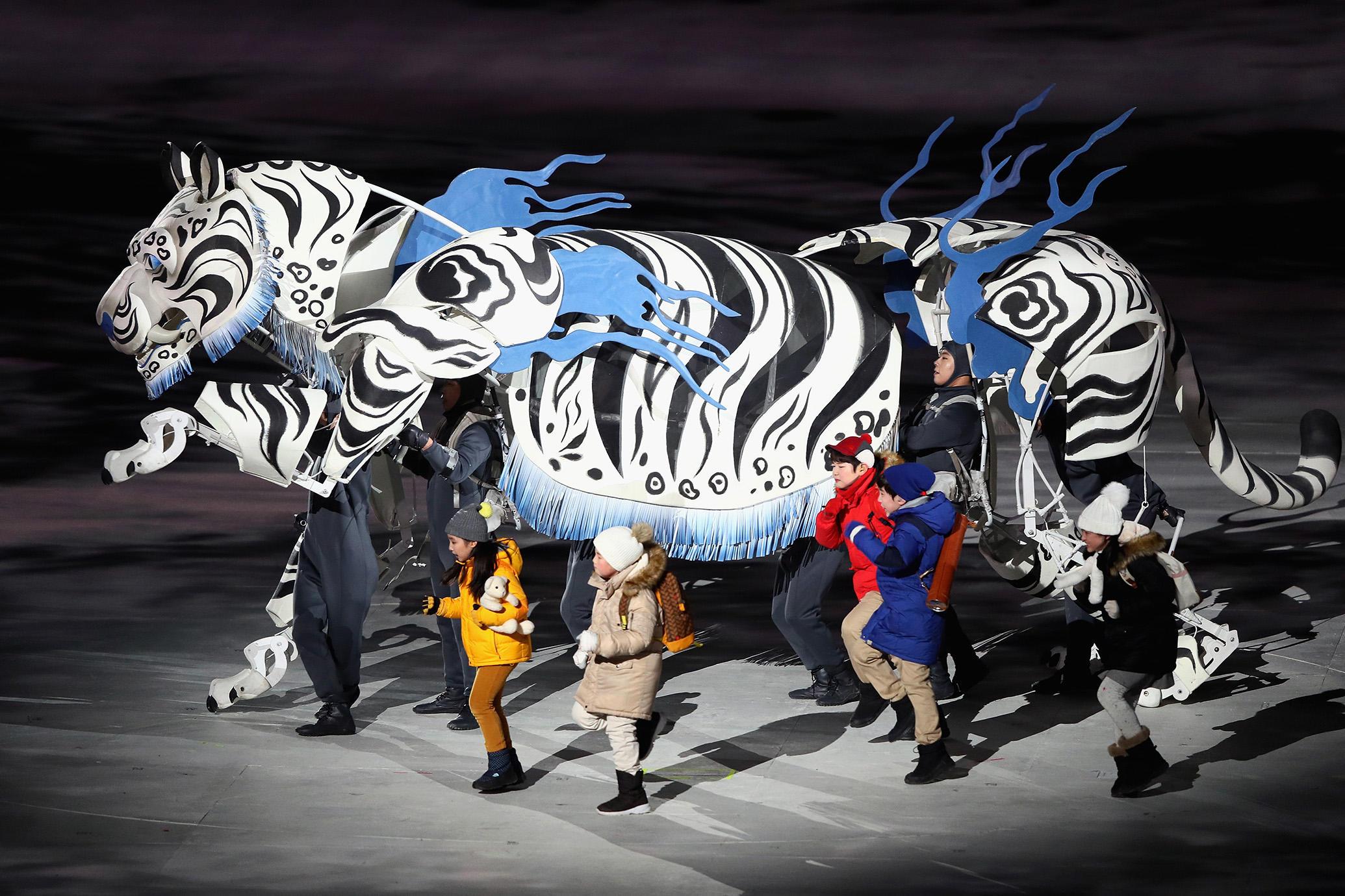 Ceremonia apertura JJOO Invierno 2018. Fuente: Jamie Squire/Getty Images