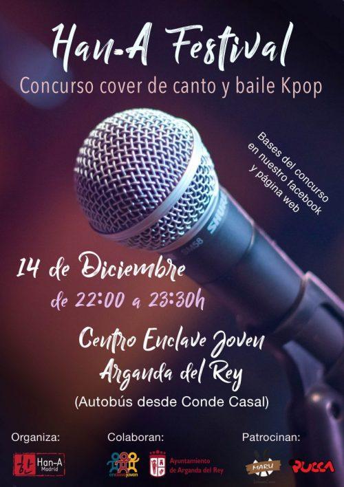 Cartel concurso Kpop Madrid Arganda